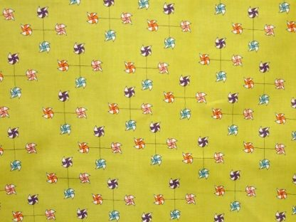 JUST FOR FUN by MARISA & CREATIVE THURSDAY for ANDOVER FABRIC - LIME GREEN - -