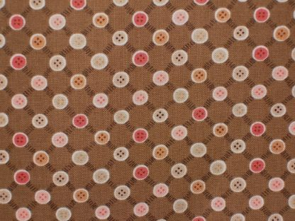 BUTTON TREE LANE by ANNY DOWNS of HATCHED & PATCHED for HENRY GLASS & CO - CARAMEL -
