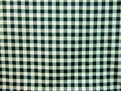 POLY/COTTON 3/4'' GINGHAM CHECK FABRIC - HEAVIER WEIGHT - BOTTLE GREEN -