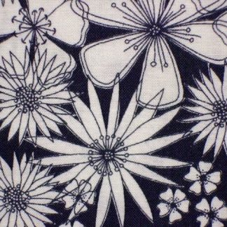 MEADOW FLOWER PRESS  by BETH STUDLEY for MAKOWER UK - BLACK/WHITE -