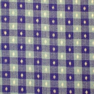 DOBBY CHECK COTTON FABRIC by J. LOUDEN - PINK/PURPLE