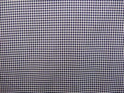 DOBBY CHECK COTTON FABRIC - NAVY/WHITE -