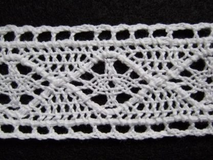 COTTON LACE 35mm/1.5'' wide  NATURAL WHITE per metre