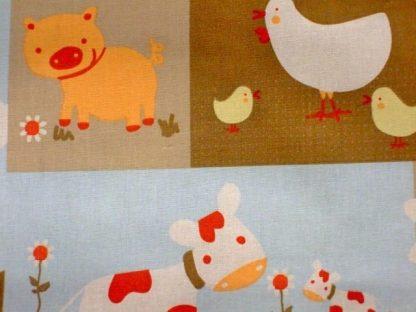 THE FARM , cotton fabric 160cm - MULTI -