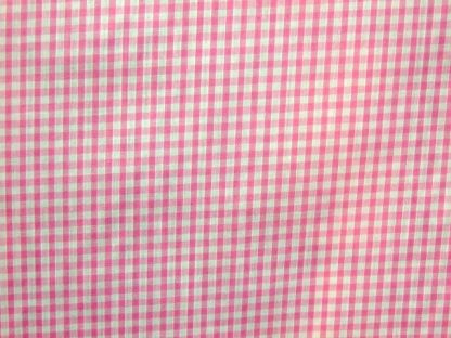 POLY/COTTON 1/8'' CORDED GINGHAM FABRIC -  PINK