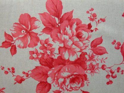 CRETONA heavier weight fabric ( double width ) - RED -