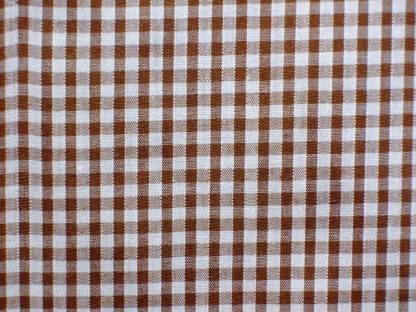 POLY/COTTON 1/8'' CORDED GINGHAM FABRIC - BROWN -