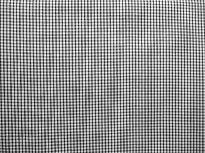 POLY/COTTON 1/8'' CORDED GINGHAM FABRIC - BLACK -