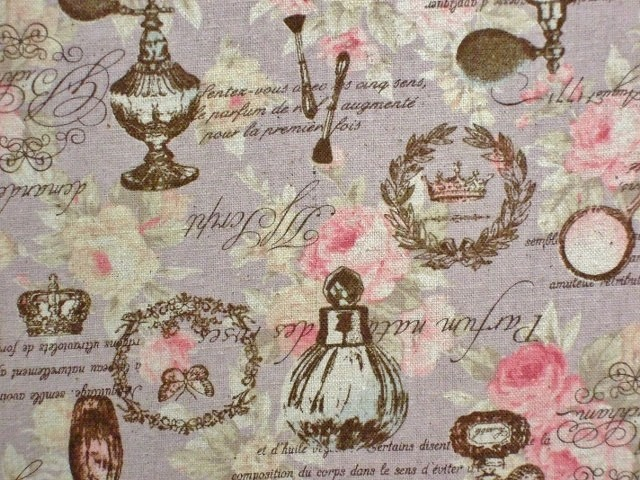 VINTAGE PARFUME ( COTTON/LINEN ) by NUTEX -  MUTED LILAC -