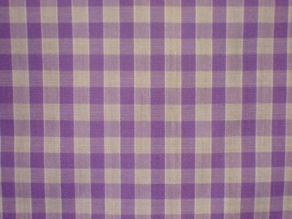 POLY/COTTON 1/4'' CORDED GINGHAM FABRIC  - LILAC -