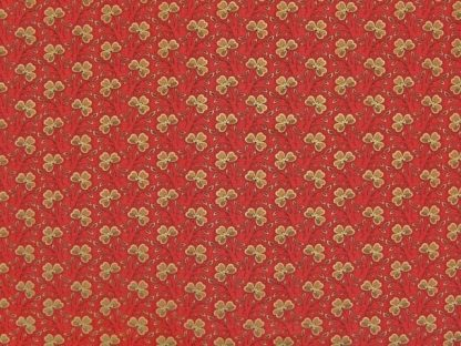 MILL BOOK SERIES 1852 by HOWARD MARCUS for MODA - RED/BEIGE -