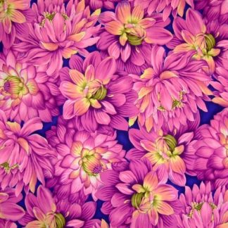 FLOWER SHOW 3 for BENARTEX  cotton fabric  purple