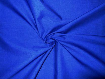POLY/COTTON PLAIN FABRIC ROYAL BLUE