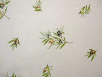 OLIVE BRANCH heavier weight fabric - CREAM -