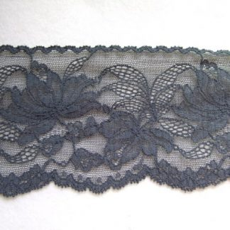FRENCH NAVY BLUE LACE EDGING 85mm/3.5'' wide polyester (per metre)