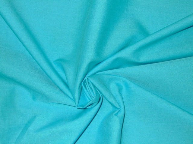 POLY/COTTON PLAIN FABRIC TURQUOISE