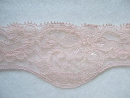 PEACH POLYESTER FRENCH LACE 40mm/1.5''  wide  (per metre)