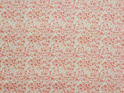 DITZY FLORAL cotton fabric - RED/WHITE