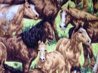 FARM LIVING by PAINTBRUSH STUDIO DESIGN, HORSES - BROWN -