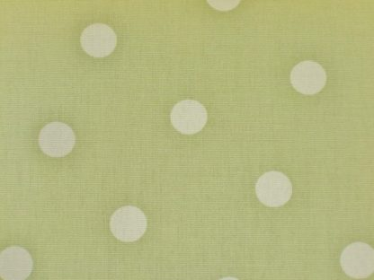 POLKA DOT heavier weight  fabric - WHITE SPOTS ON SAGE GREEN