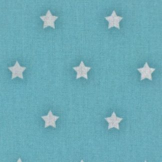 STARS CRETONNE cotton fabric - BLUE -