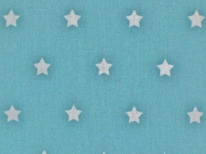 STARS CRETONNE cotton fabric - BLUE -