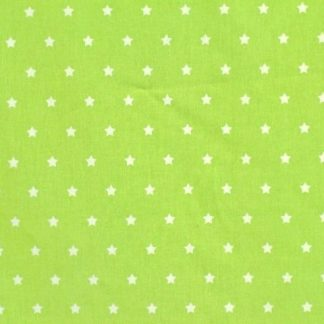 STARS CRETONNE cotton fabric - GREEN -