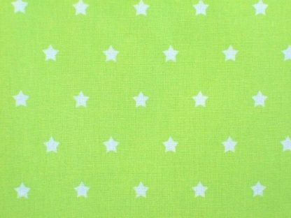 STARS CRETONNE cotton fabric - GREEN -