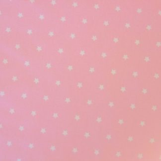 STARS CRETONNE cotton fabric - PINK -