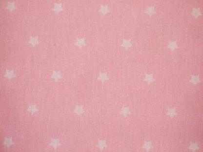 STARS CRETONNE cotton fabric - PINK -