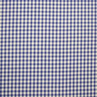 POLY/COTTON 1/4'' CORDED GINGHAM FABRIC - ROYAL BLUE