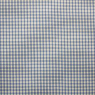 POLY/COTTON 1/4'' CORDED GINGHAM FABRIC - PALE BLUE -