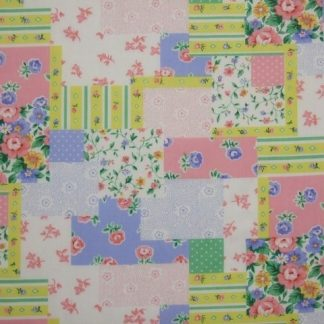 POLY/COTTON PRINT FABRIC   FLORAL MULTI