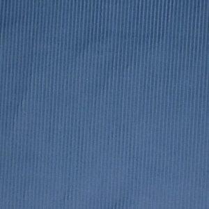 NEEDLE CORD, CORDUROY COTTON FABRIC - BLUE -