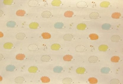 HEDGEHOGS HEAVIER WEIGHT FABRIC - CORAL -