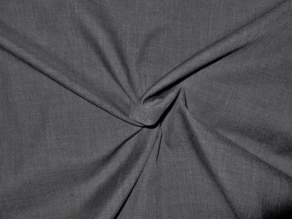 POLY/COTTON  FABRIC SOLID CHARCOAL  GREY