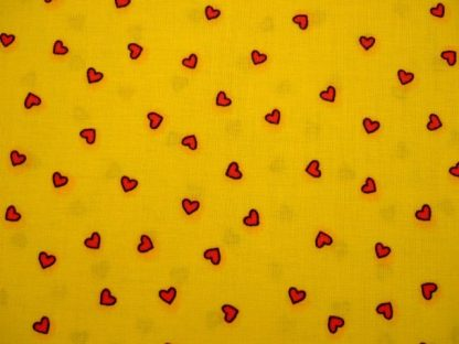 2X2 for FABRI QUILT HEARTS - RED HEARTS ON YELLOW