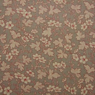 ROUENNERIES DEUX by French General for Moda  cotton fabric .  BEIGE/RED