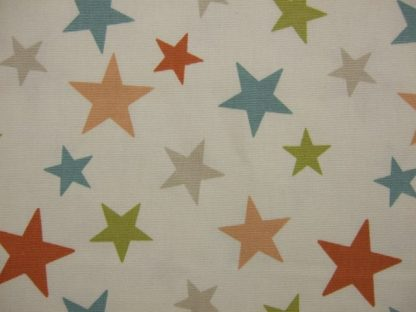 FUNKY STARS.  HEAVIER WEIGHT FABRIC - CORAL -