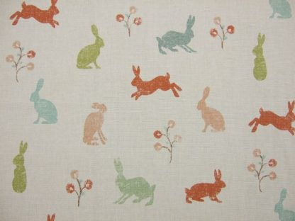 HARES.  HEAVIER WEIGHT FABRIC - CORAL -