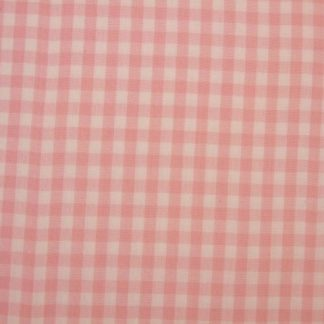 1/4 INCH GINGHAM CHECK - 100% COTTON PINK