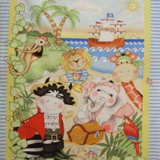 BAZOOPLE PIRATES PANEL by VICKY SHREINER for SPRING CREATIVE 100% cotton