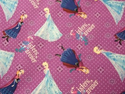 Sisters forever Characters- FROZEN- by DISNEY for SPRING CREATIVE PRODUCTS - 100% COTTON