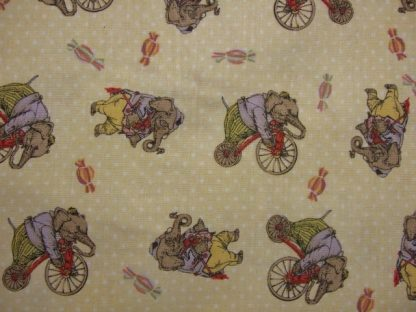 HULLABAL00 by IRON ORCHID DESIGNS for CLOTHWORKS -  ELEPHANTS ON YELLOW  -