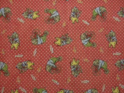 HULLABAL00 by IRON ORCHID DESIGNS for CLOTHWORKS -  ELEPHANTS ON ROSE  -