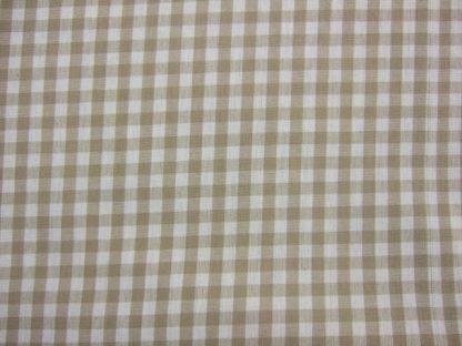 VERCORS GINGHAM heavier weight fabric - BEIGE/CREAM -