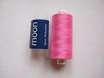 COATS MOON THREAD 120gauge 1000Yds  Spun Polyester   Bright Pink