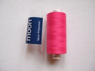 COATS MOON THREAD 120gauge  Spun Polyester  1000 yds     Cerise Pink