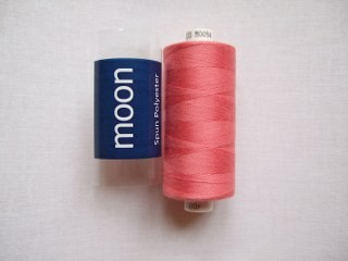 COATS MOON THREAD 120gauge  Spun Polyester  1000 yds     Dark Peach