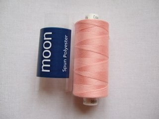 COATS MOON THREAD 120gauge  Spun Polyester  1000 yds     Peach